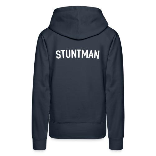 Stuntman Blanco - Sudadera con capucha premium para mujer