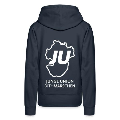 JU Umriss mit schriftzug gif - Frauen Premium Hoodie