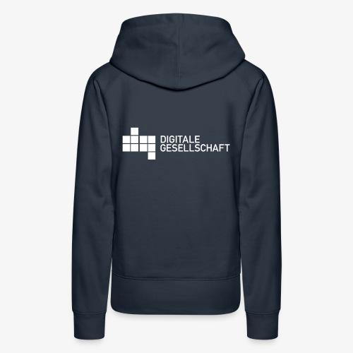 DigiGes Logo Weiß - Frauen Premium Hoodie