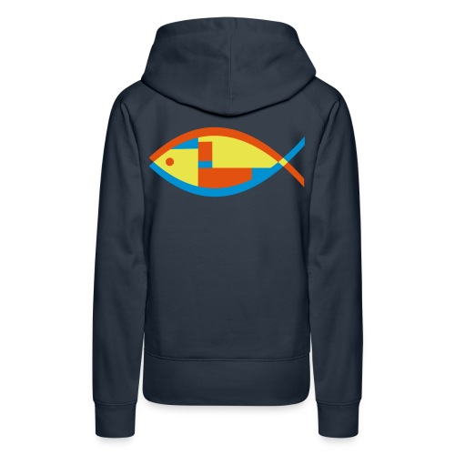 Colorful Abstract Fish - Women's Premium Hoodie