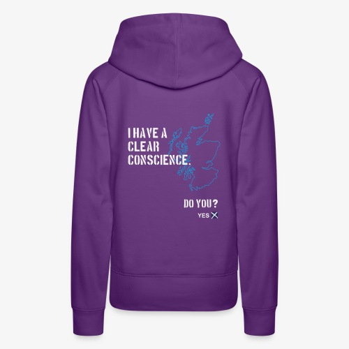Clear Conscience - Women's Premium Hoodie