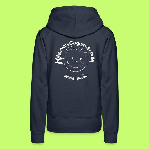 Mäxchen Logo weiß - Frauen Premium Hoodie