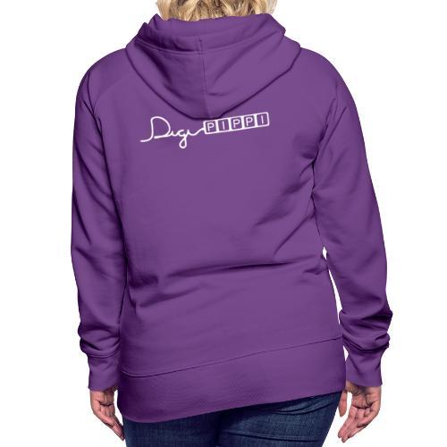 DP Logo White - Dame Premium hættetrøje