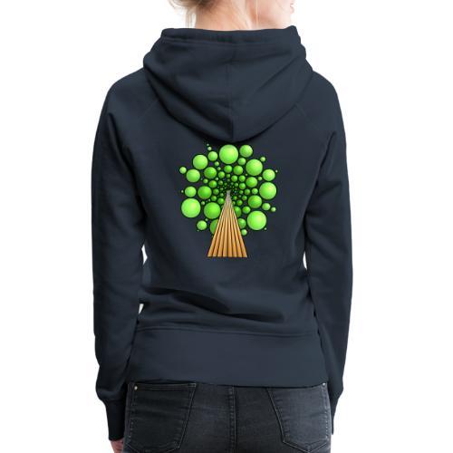 Kugel-Baum, 3d, hellgrün - Frauen Premium Hoodie