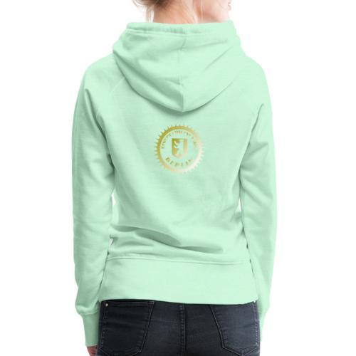 Logo klein ESU gold - Frauen Premium Hoodie