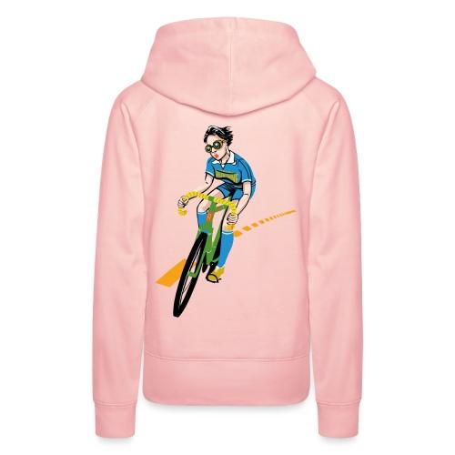 The Bicycle Girl - Frauen Premium Hoodie