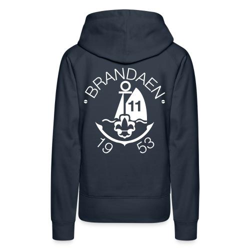 brandaen logo blauw - Vrouwen Premium hoodie