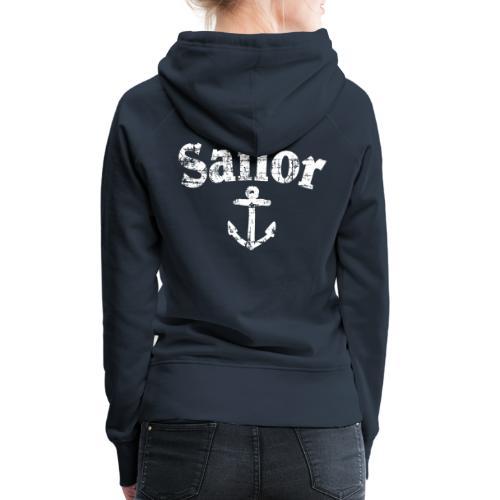 Sailor Anker Segeln Segel Segler (Vintage/Weiß) - Frauen Premium Hoodie