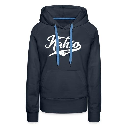 White Nasho.com Design - Women's Premium Hoodie