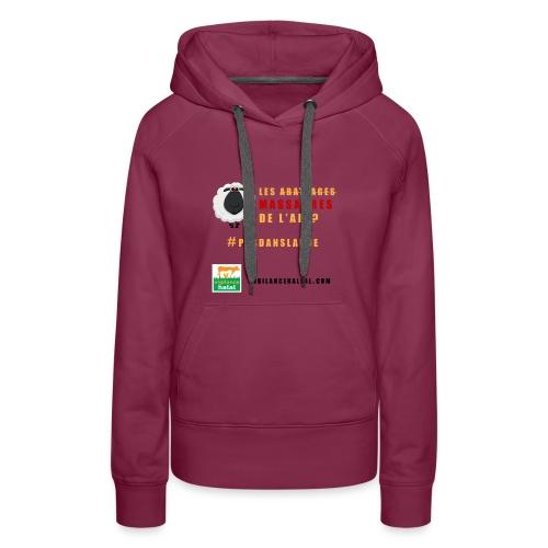 aid - Sweat-shirt à capuche Premium pour femmes