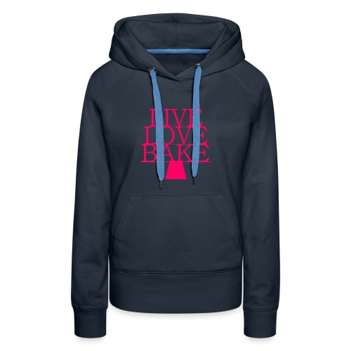LiveLoveBake ekstra stor - Dame Premium hættetrøje