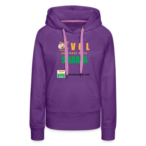 volaudessus - Sweat-shirt à capuche Premium pour femmes