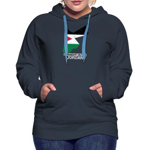 Straight Outta Jordan country map - Women's Premium Hoodie