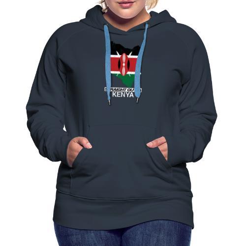 Straight Outta Kenya country map & flag - Women's Premium Hoodie