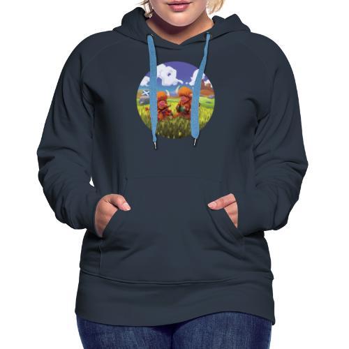 Highland cows from Scotland - Sweat-shirt à capuche Premium pour femmes