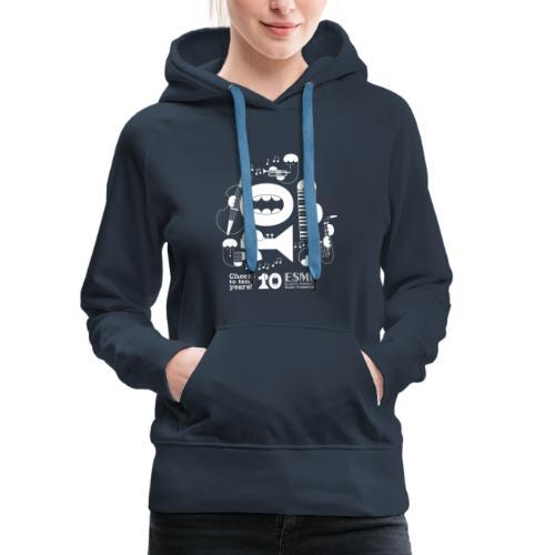 ESME Anniversary Design Weiss - Frauen Premium Hoodie