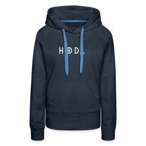 Hodle Bitcoins - White Design - Women's Premium Hoodie