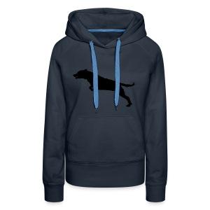Jumping Dog Silhouette - Vrouwen Premium hoodie