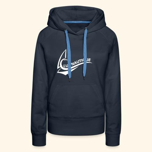 Logo Club Nautique weiß - Frauen Premium Hoodie