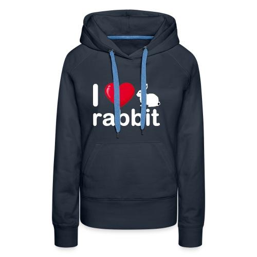 Zu nett Kaninchen i lieben weißes Kaninchen - Frauen Premium Hoodie