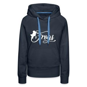 frogo - Sweat-shirt à capuche Premium pour femmes