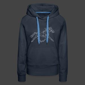 Geometrisch Paard - Vrouwen Premium hoodie