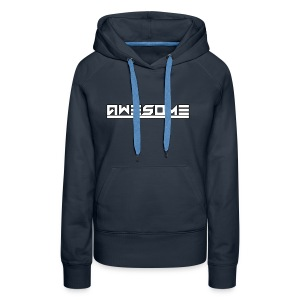Awesome (White) - Women's Premium Hoodie
