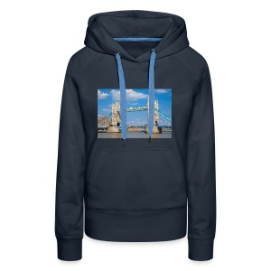 Tower Bridge - Felpa con cappuccio premium da donna