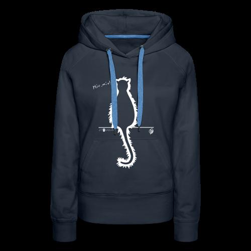Thyrrin Hexenkater, Silhouette (weiß) - Frauen Premium Hoodie