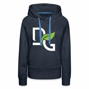 DrGreen Logo Symbol weiss grün - Frauen Premium Hoodie