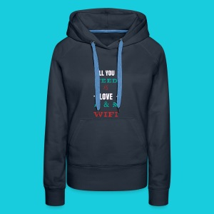 Zwapp Designs Love and WiFi - Frauen Premium Hoodie