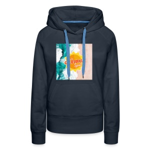 California Spirit Surfin - Sweat-shirt à capuche Premium pour femmes