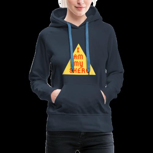 Le triangle I am my shero - Sweat-shirt à capuche Premium pour femmes