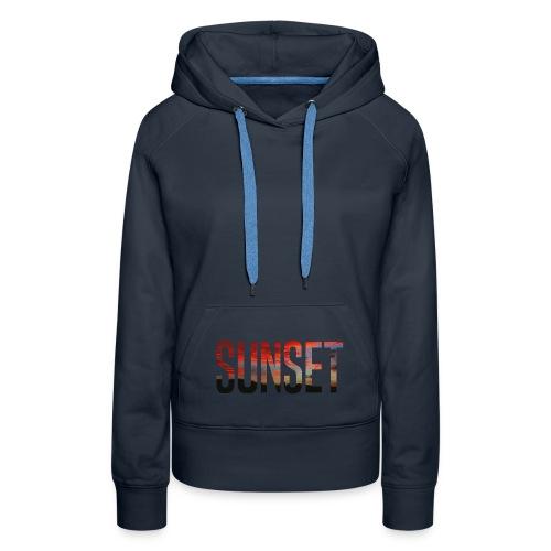 sunset - Sweat-shirt à capuche Premium pour femmes