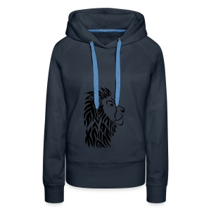 lion tribal shirt - Frauen Premium Hoodie
