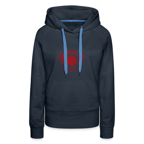 LogosVolleyBall MonochromeRouge - Sweat-shirt à capuche Premium pour femmes
