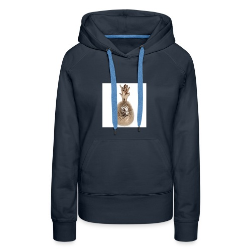 tj0067 large brass pineapple pot - Women's Premium Hoodie