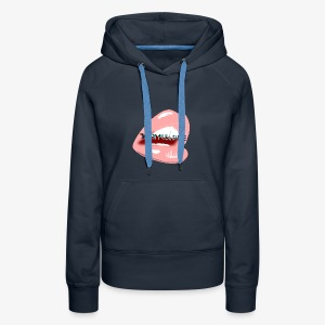 With Pleasure Mouth Logo - Women's Premium Hoodie