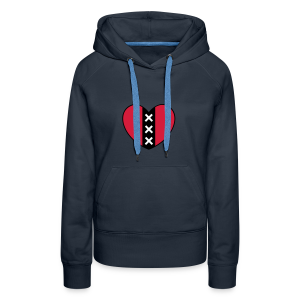 Hart met het symbool van de stad Amsterdam - Vrouwen Premium hoodie