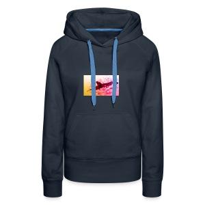 LowpolyWhale - Sweat-shirt à capuche Premium pour femmes
