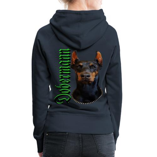 Dobermann Hundekopf Hundesport Hundeliebhaber Hund - Frauen Premium Hoodie