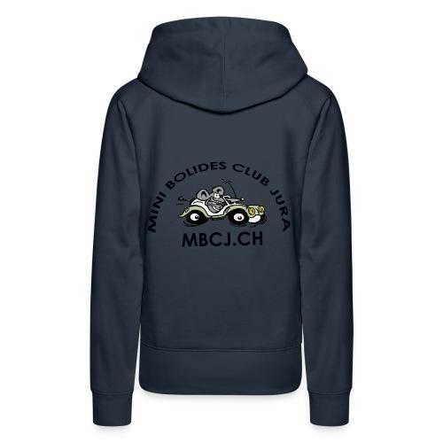 logo MBCJ complet 50cm - Sweat-shirt à capuche Premium pour femmes