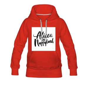 Alice in Nappyland Typography Black 1080 1 - Women's Premium Hoodie