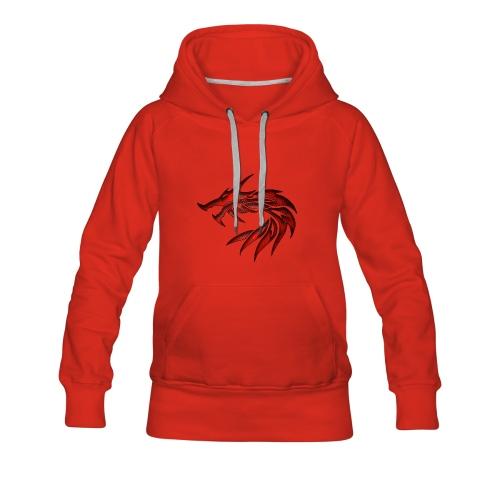 dragon tribal 1a - Sweat-shirt à capuche Premium pour femmes
