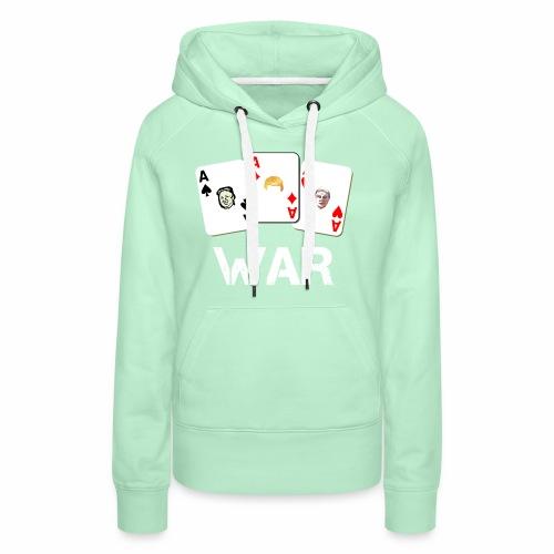 WAR / Guerra - Felpa con cappuccio premium da donna