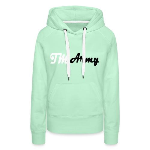 Hoodie - TM army - Dame Premium hættetrøje