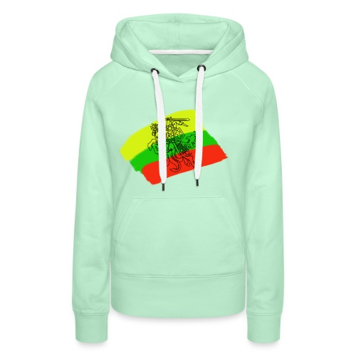 Lithuanian flag with rider - Women's Premium Hoodie