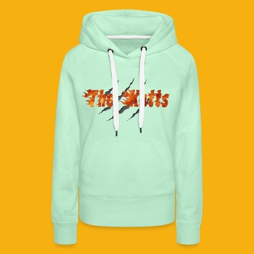 Katts transparent 30x16 - Sweat-shirt à capuche Premium pour femmes
