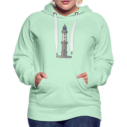 Leuchtturm Warnemünde Rostock c - Frauen Premium Hoodie