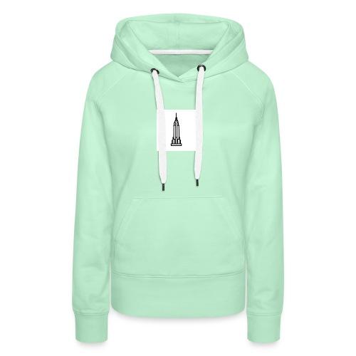 Empire State Building - Sweat-shirt à capuche Premium pour femmes